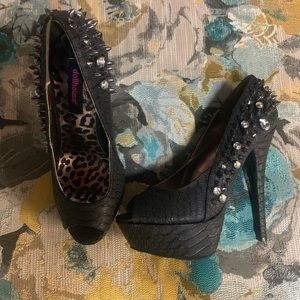 Dollhouse Spike platform heels